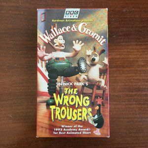 Wallace and Gromit - The Wrong Trousers (VHS, 1996